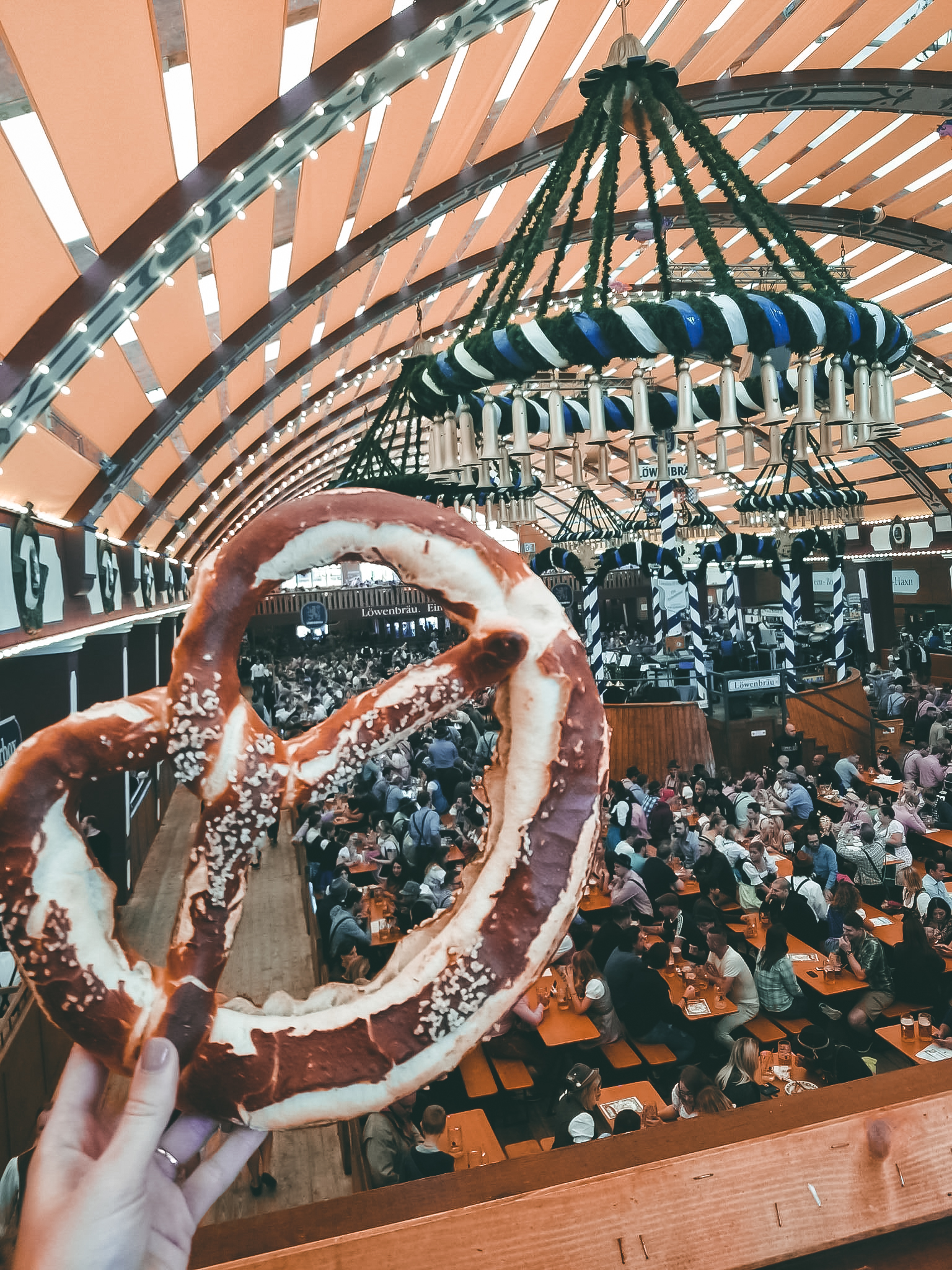 Inside the Löwenbräu tent at Oktoberfest & Inside the Löwenbräu tent at Oktoberfest u2013 Karen Ann